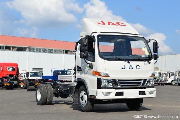 江淮 骏铃V5 132马力 4.15米单排厢式轻卡(国六)