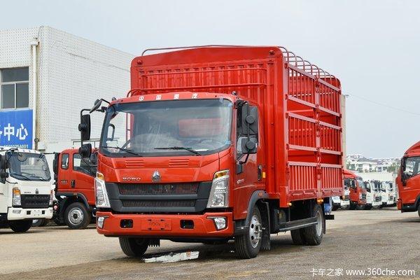 中国重汽HOWO 悍将 160马力 4.15米单排仓栅式轻卡