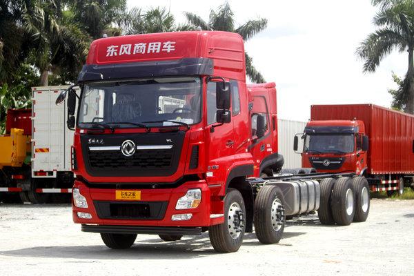 东风商用车 天龙VL重卡 350马力 8X4 9.6米仓栅式载货车