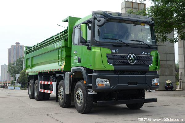 陕汽重卡 德龙X3000 430马力 8X4 7.6米自卸车(国六)(SX33195D406)