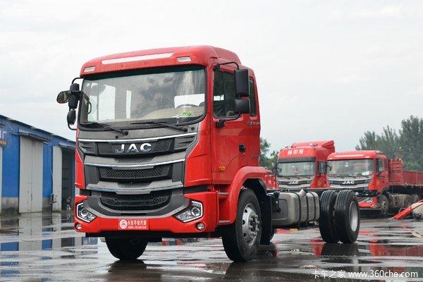 江淮 格尔发A5L中卡 200马力 4X2 6.8米栏板载货车(国六)
