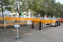 中集华骏30英尺系列集装箱式半挂车图片