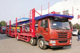 湖北程力(程力威牌)青岛解放底盘中置轴车辆运输车图片