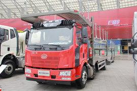 滁州长久(恒信致远牌)一汽解放底盘中置轴车辆运输车图片