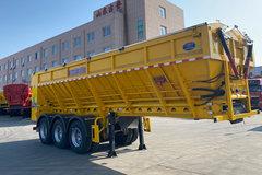 吉鲁恒驰智能传送带挂车粉粒物料运输半挂车图片