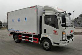 重汽济专(绿叶牌)重汽豪沃(HOWO)底盘冷藏车
