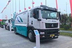 青岛重工(青专牌)重汽汕德卡底盘垃圾运输车图片