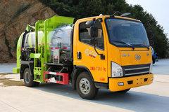 湖北一专(专致牌)一汽解放轻卡底盘 垃圾运输车图片